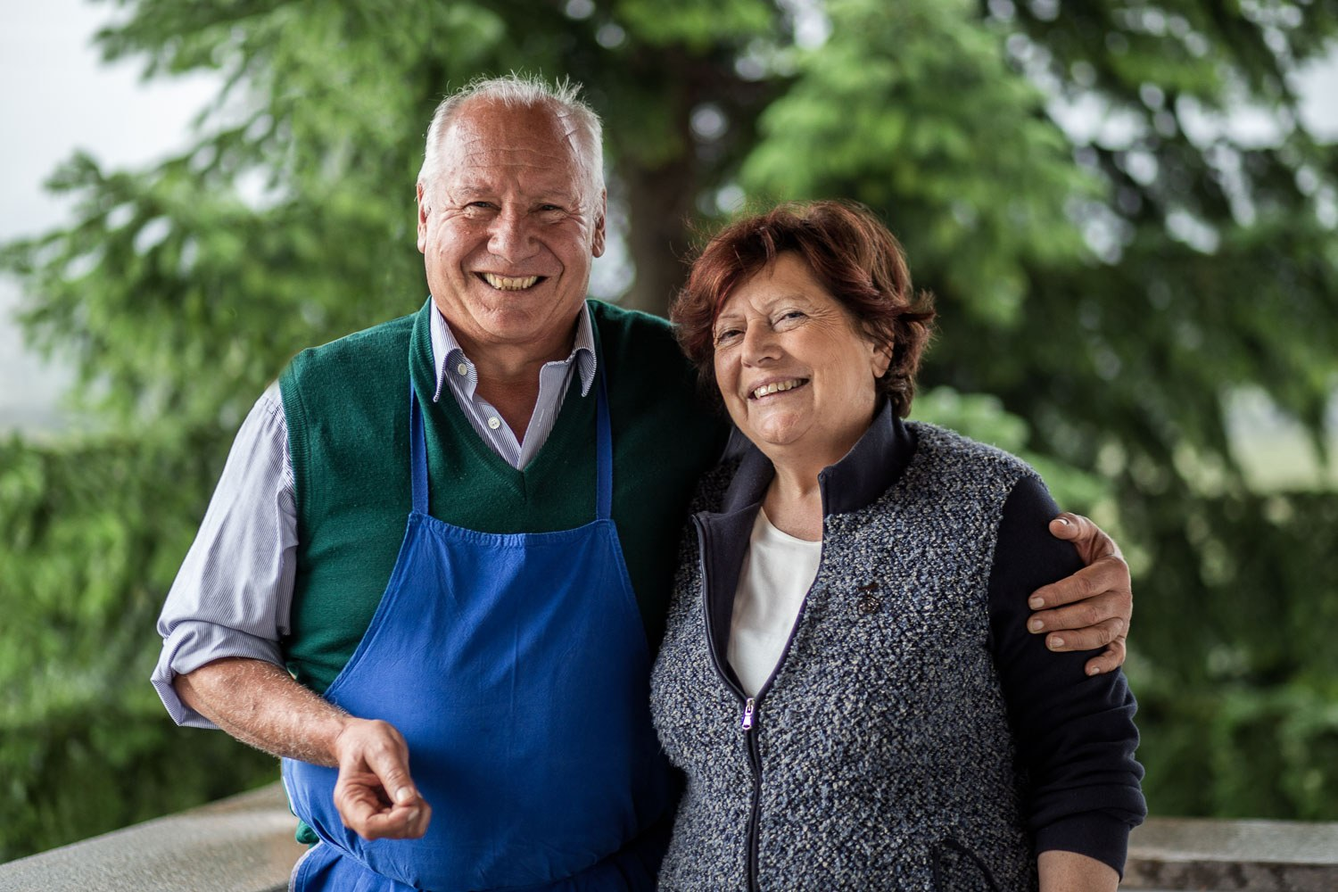 Organic farmer Helmuth Alessandrini with his wife